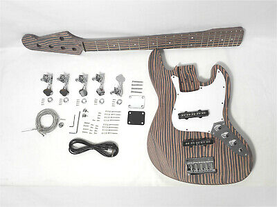 $ CDN355.63 • Buy Complete No-Soldering 5-String Jaza Bass Guitar DIY Kit,All Technical ZebraWood