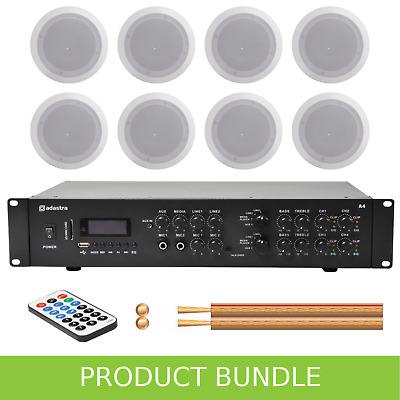 Inta Audio 2-Zone Home/Office Music System With 8 Ceiling Speakers • 339£