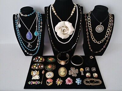 $ CDN23.84 • Buy Huge Vintage To Now Jewelry Lot Estate Find  All Wearable Pieces - SOME SIGNED