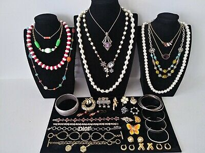 $ CDN12.94 • Buy Huge Vintage To Now Jewelry Lot Estate Find  All Wearable Pieces - SOME SIGNED