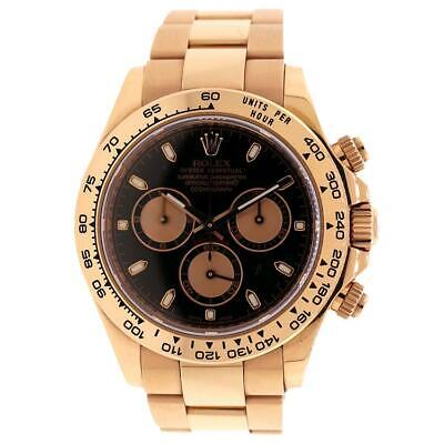$ CDN48741.41 • Buy Rolex Cosmograph Daytona Rose Gold Black Dial 40mm Watch Box Papers 116505