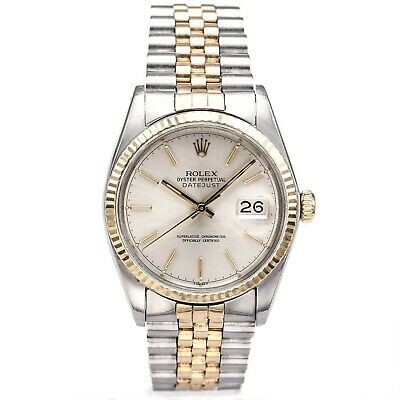$ CDN3563.96 • Buy Vintage 1977 Rolex Datejust Watch 14K Gold S/S Two Tone Mens 36mm Ref 16013
