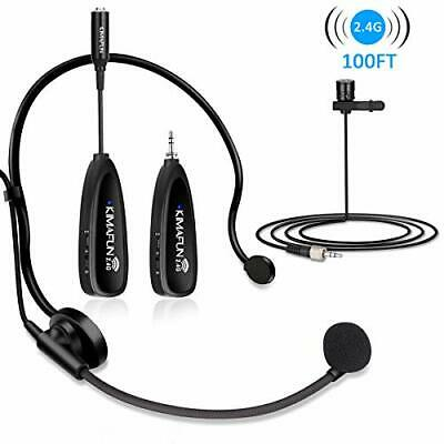 Wireless Microphones System, KIMAFUN 2.4G Wireless Microphone Headset And • 73.99£