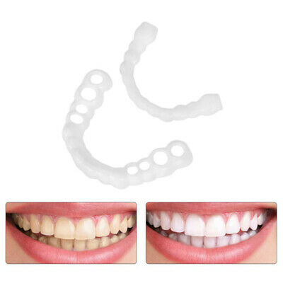 $6.29 • Buy 1pair Silicone Fake Teeth False Tooth Cover Whitening Denture Oral Care US