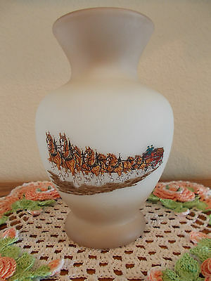 $ CDN195.50 • Buy Fenton Vintage Budweiser Clydesdale Horses With Wagon Vase 2nd Series *rare*