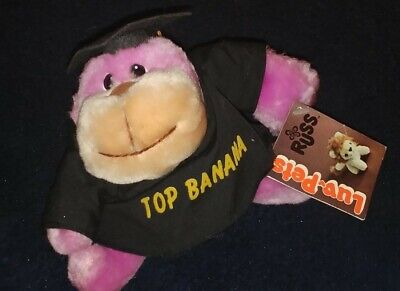 $ CDN7.24 • Buy RUSS Luv Pets Top Banana Monkey Plush Graduation Vintage 1979 NEW WITH TAGS Rare