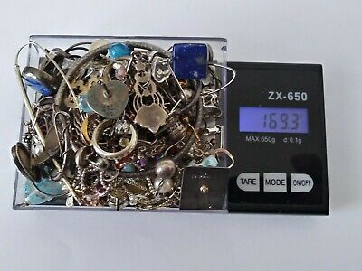 $ CDN77.56 • Buy Vtg 925 Sterling Silver HUGE Jewelry Lot 169.3g SCRAP REPAIR OR USE
