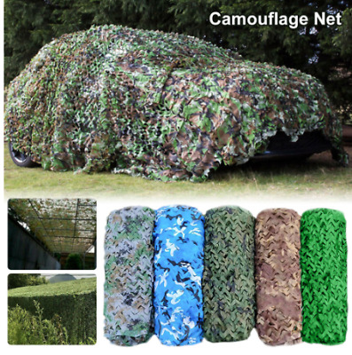 Camo Net Cover Camouflage Netting Hunting Shooting Camping Army Hide Colors Hot • 3.99£