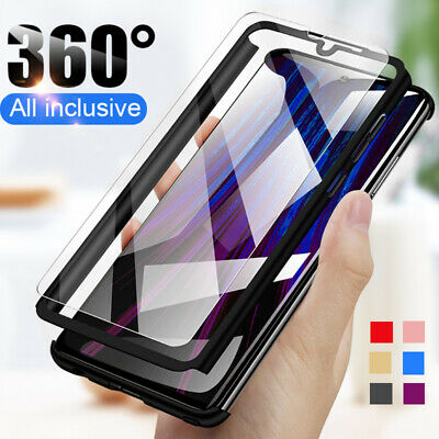 $0.99 • Buy For Xiaomi Redmi Note 9S 9 8 7 Pro 6 5 8T 360° Full Cover Case + Tempered Glass