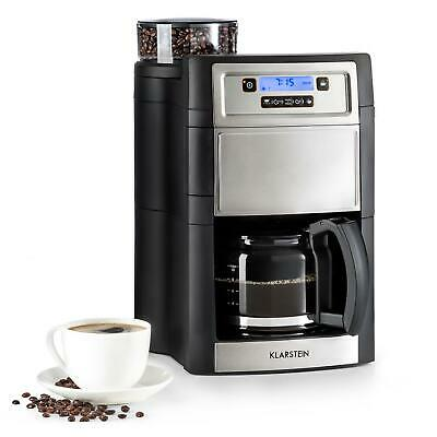 Coffee Machine Maker Grinder Bean To Cups 10 Filter Timer LCD 1.25 L Silver • 99.99£