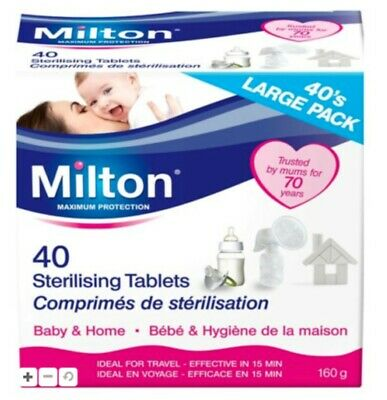 Milton Sterilising Tablets 40 Pack. Baby & Home. Kills 99.9% Of Germs. • 4.99£