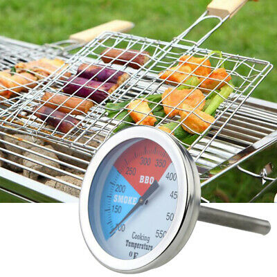 Barbecue BBQ Grill Smoker Temperature Thermometer Gauge Pit Thermostat Tool • 9.14£
