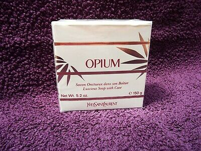 Yves Saint Laurent Opium Luscious Perfumed Soap With Case 150g New Boxed Sealed. • 64.99£