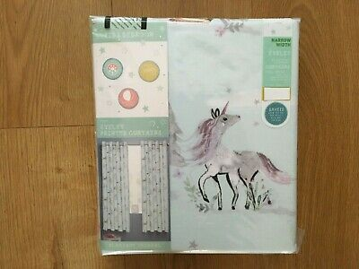 Next Girls Magical Woodland Teal Eyelet Blackout Thermal Curtains 46x54  - New • 34.99£