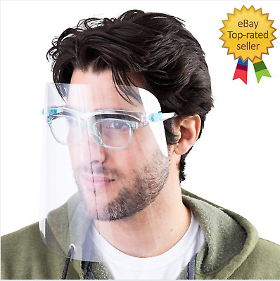 Face Shield Full Face Visor Protection Mask PPE Shield Clear Plastic Transparent • 5.99£