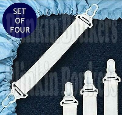 £3.19 • Buy 4pc Bed Keep Sheet Hold On Grippers Straps Holders Fastener Ironing Board Cover