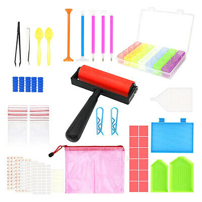 60Pieces 5D Diamonds Painting Tools Kits With Roller And Box For Adults Or Kids • 10.29£