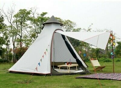 AU238 • Buy White Camping Tipi Tent Teepee Bell Tent Glamping Waterproof PE Tent