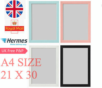 IKEA Fiskbo Photo Frame Picture Document White Black Pink 21x30(A4) • 5.99£