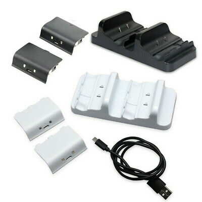 $12.69 • Buy For XBOX ONE Controller Dual Charging Dock Station Charger + 2 Battery Packs New