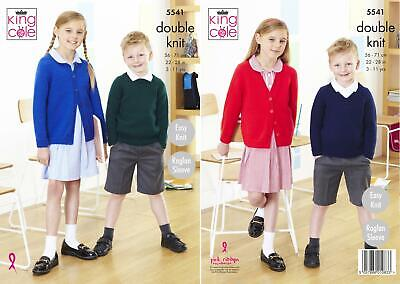 £3.89 • Buy King Cole 5541 Knitting Pattern Childrens Cardigans & Sweater In Pricewise DK