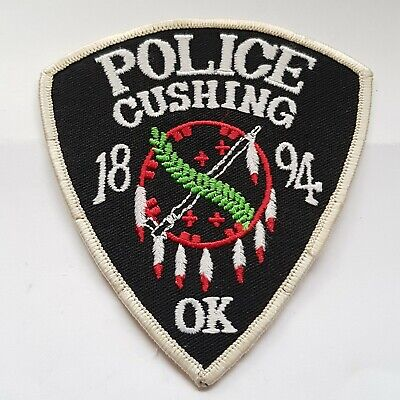 Obsolete Original Police Patch Badge USA Cushing Oklahoma  • 5.99£