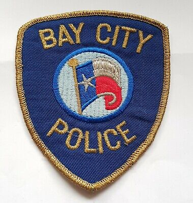 Obsolete Original Police Patch Badge USA Bay City Michigan  • 5.99£