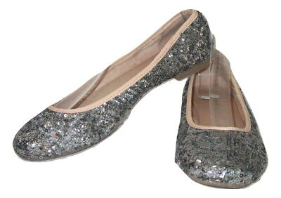 $14.99 • Buy Lauren Conrad Shoes Ballet Flats Sequined Womens Size 6 Gray Holiday Party