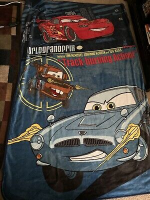 Oversized Twin Size Pixar Cars 2 Fleece Blanket • 15.38£