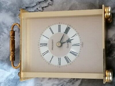 Collectable President Quartz Vintage Brass & Metal Carriage Clock Germany Made • 4.40£
