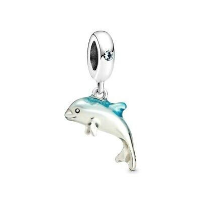 AU44.09 • Buy PANDORA Charm Sterling Silver ALE S925 SHIMMERING DOLPHIN 798947C01