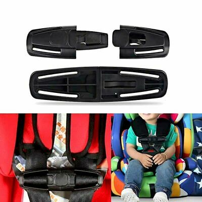 Baby CAR SAFETY SEAT STRAP BELT LOCK BUCKLE Latch Harness Child Chest Knots Clip • 3.94£