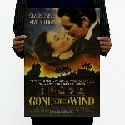 $ CDN4.61 • Buy Old Movie Gone With The Wind Vintage Poster Home Bar Art Wall Decor 14 X20  Gift