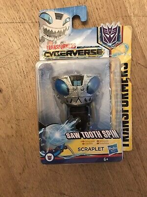 Transformers Cyberverse Scraplet Saw Tooth Spin Decepticon Convertible Toy  • 3£