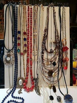 $ CDN13.61 • Buy Lot Of 16 Vtg - Now Bead Chain Shell Necklace 16  - 60  Variety Fashion Jewelry
