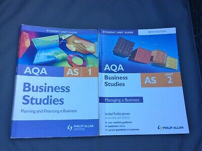 AQA Business Studies Student Guides AS Unit 1 & 2  • 3£