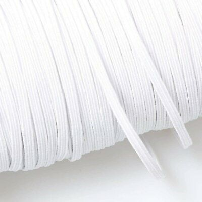 $ CDN21.59 • Buy Soft Braided Elastic Band String Rope 6mm For Sewing Braided Elastic Cord White