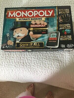 $23.59 • Buy Monopoly Ultimate Banking Board Game 2-4 Players Indoor Game Age 8+ Used Once