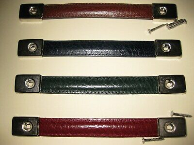 Real Leather Strap Handle For Speakers,amp,flight Boxes Etc / Nickel End Caps • 11.95£