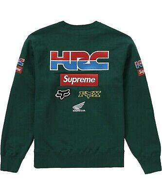 $ CDN385.19 • Buy Supreme Honda Fox Racing Crewneck Dark Green Sz Large Fw19 Black Box Logo
