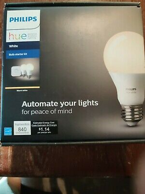 AU78.29 • Buy Philips Hue 455287 White A19 2-Bulb Starter Kit  New.