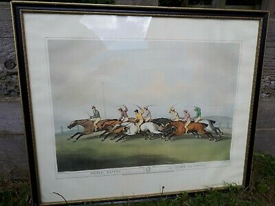 Large Framed Print - Horse Racing La Course De Chevaux By Samuel Howitt  • 27£
