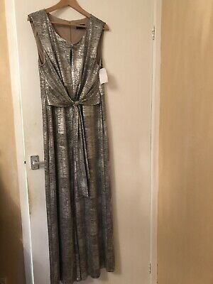 Connected Apparel Silver Jumpsuit Size 14 BNWT • 2.90£