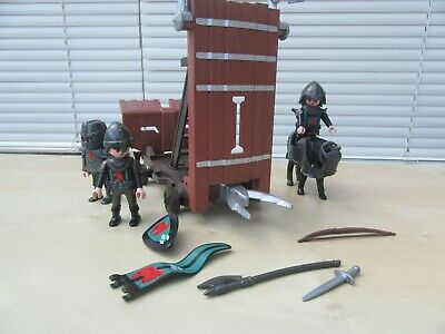 Playmobil Battering Ram - 4869 With Knights And Horse. Good Condition • 5.50£