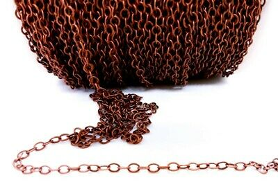 1 Metre Brass Chain, Red Copper 3.5mm Links • 1.25£