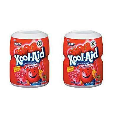 Kool-Aid Cherry Powdered Drink Mix 3 Containers Only 19 Oz • 14.61£