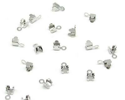 £1.20 • Buy 24x Silver Rhinestone Jewellery Cupchain Connectors Ends Jewellery Making