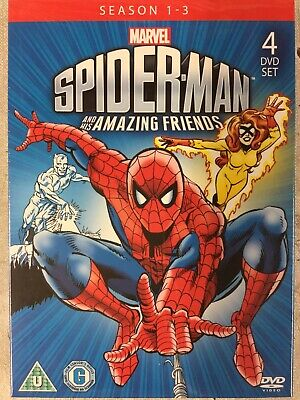 Spider - Man  His Amazing Friends Season 1 - 3 - 4 DVD Marvel Animated Cartoon • 14.99£