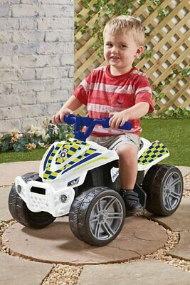 Kids RIDE ON ELECTRIC Police Quad BIKE 6V Forward Ages 3+ Toy Xmas NEW • 39.99£