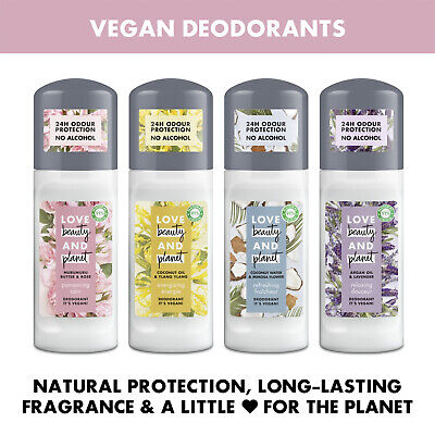 Love Beauty & Planet Vegan 24H Odour Protection No Alcohol Roll-on 50ml • 7.99£